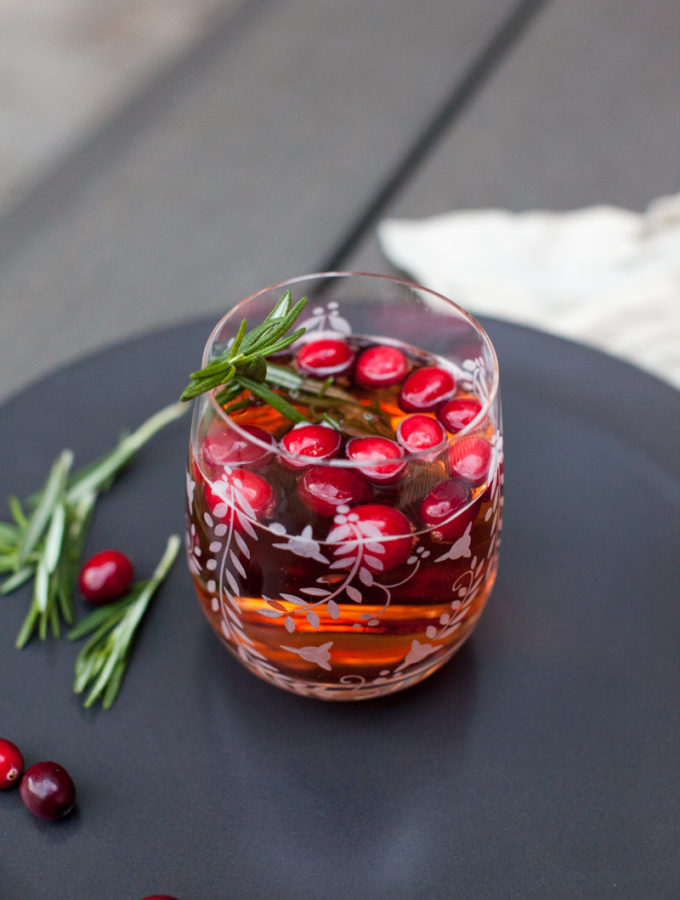 Sparkling Cranberry Rosemary Lemonade