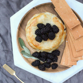 blackberry sage hazelnut baked brie recipe