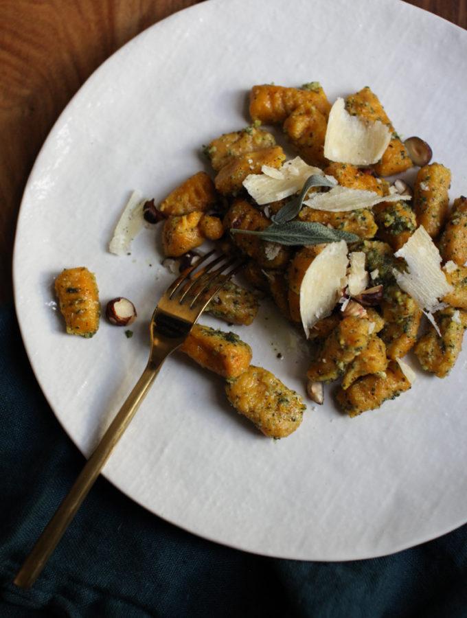Kabocha Squash Gnocchi with Hazelnut Sage Pesto